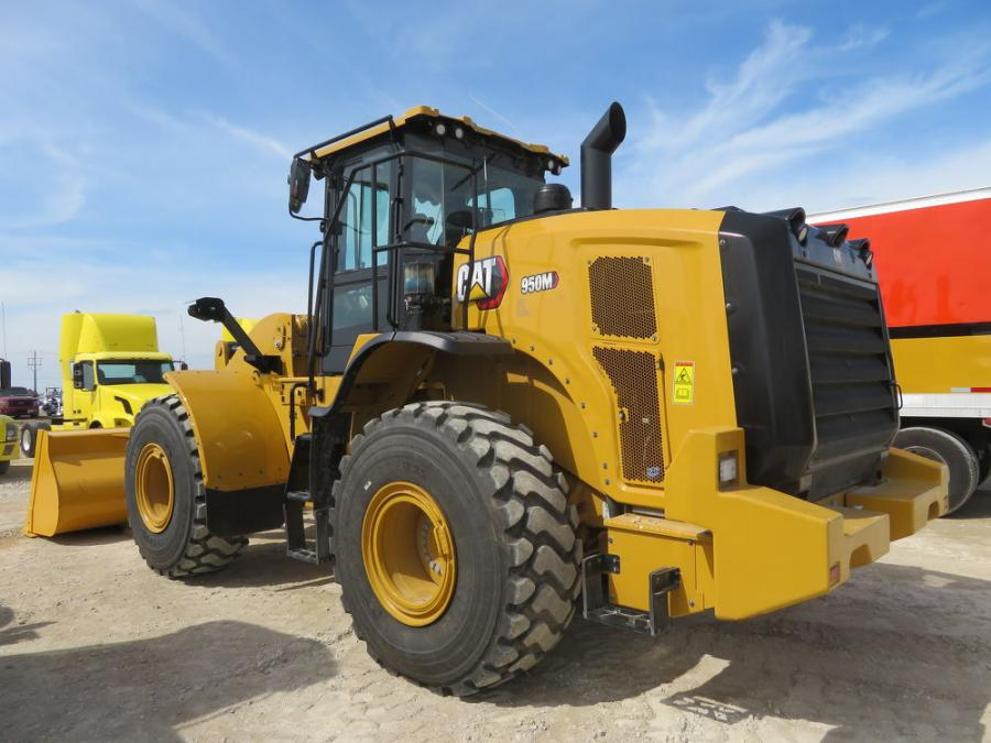 Bidding was fierce on this Cat 950M wheel loader at the Alex Lyon & Son auction in Racine, Wis.