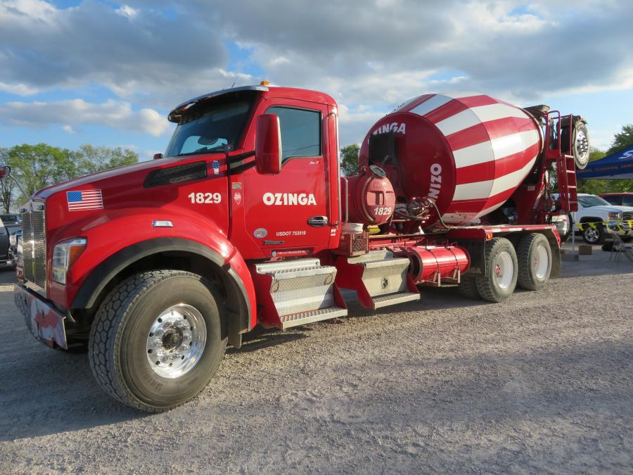 Ozinga Ready Mix bought in one of its trucks for display.