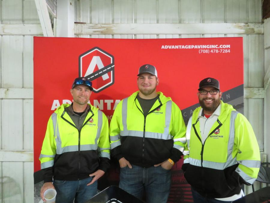 Advantage Paving Inc. was well represented at the Meet & Greet Expo. (L-R) are Jeff Swanson, Tom Younker and Steve Marr.