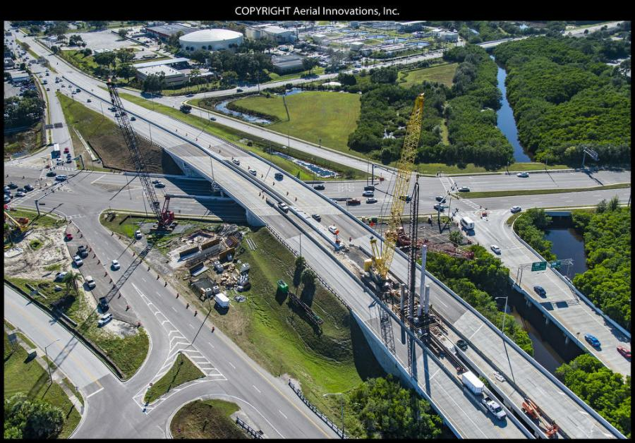 The design-build project began Aug. 21, 2017, and the current expected completion date is early 2023. Crews are constructing the future SR 690, a new four-lane elevated tolled expressway connection from U.S. 19 to the west of I-275.