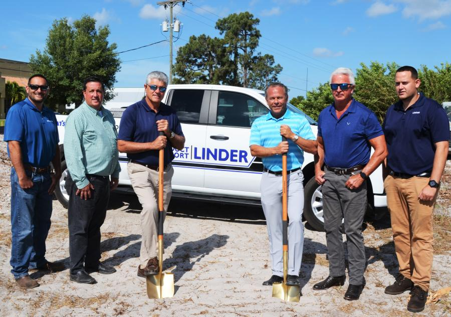 (L-R): Joe DeOreo, Heith Draper, Vincent Aguayo, Tom Bauers, Ray Henry and Louis Escobar will be instrumental in the success of the future Linder Industrial Machinery's Ft. Myers, Fla., branch facility.