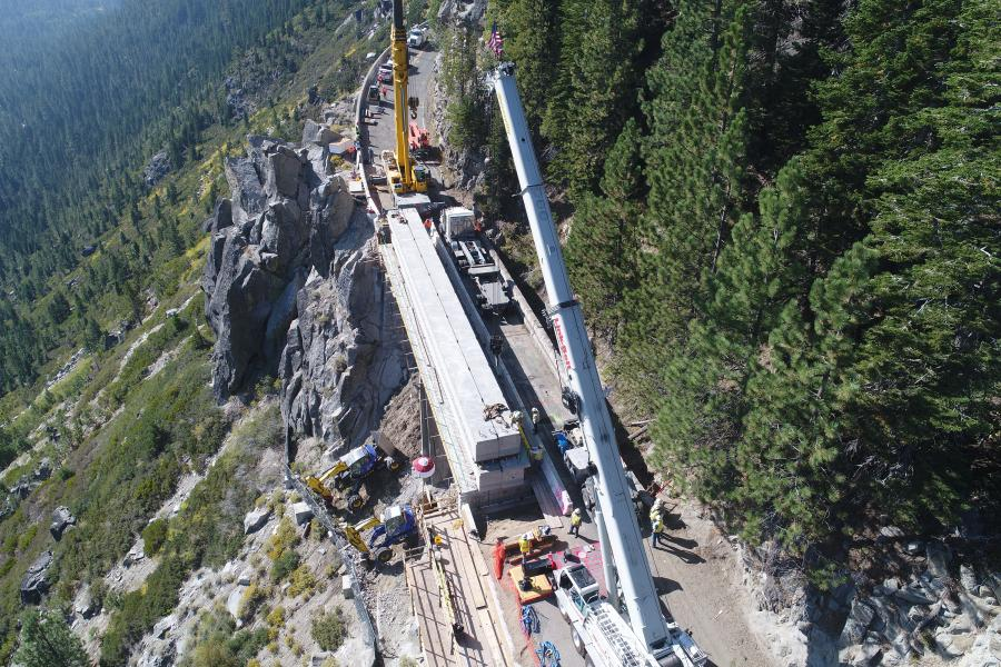 Crews from Q&D Construction recently completed the Echo Summit bridge replacement three months ahead of schedule thanks to an accelerated bridge construction (ABC) method.