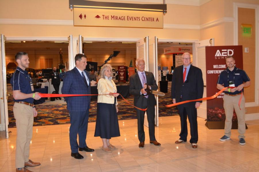 CONDEX opens with its formal ribbon cutting.
