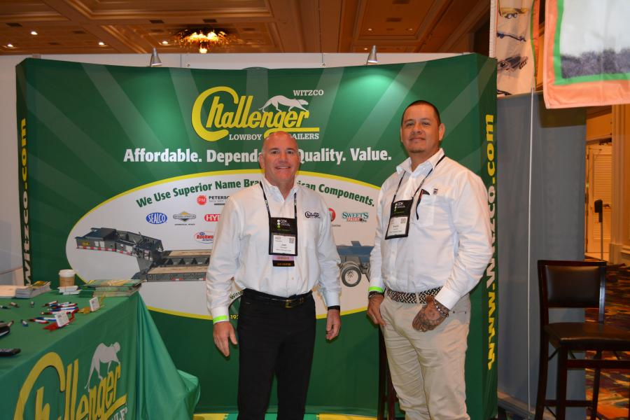 Witzco Challenger, a Fla.-based manufacturer of lowboy trailers, was represented at AED by President Josh Weinstein (L) and Shami Jimenez, sales manager.