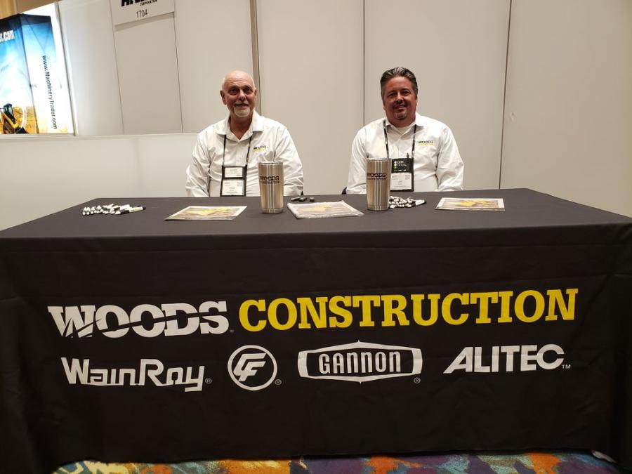 Elbert Dupont (L), district manager of Woods Construction and Jeffrey Kritsch, director of sales of Woods Construction.