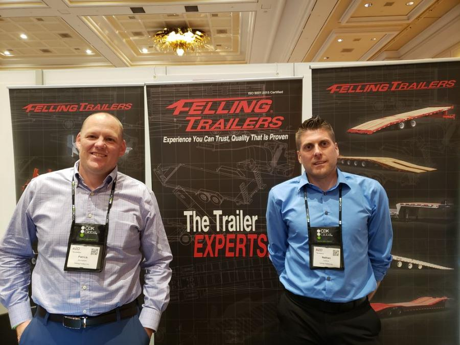 Patrick Jennissen (L) and Nathan Uphus, both of Felling Trailers.