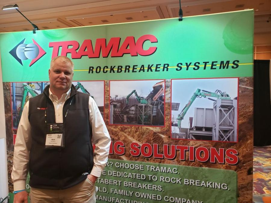 Mark Cornelius, sales manager of Tramac Corp.