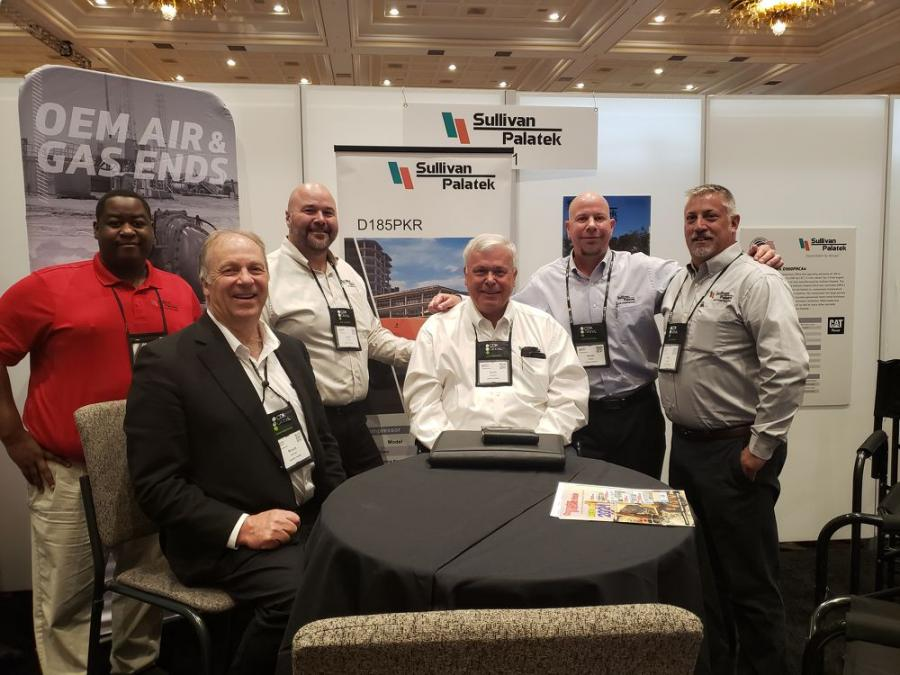 (L-R, front row) are members from Sullivan-Palatek team: Bruce McFee and Scott Carlson; and (L-R, back row) are Horace Douglas, Larry Colley, Kevin Cook and Rob Mitchell.