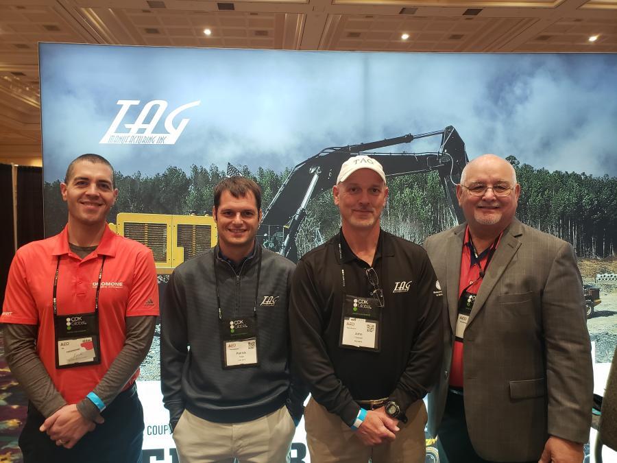 (L-R): Eric Ortega, Patrick Sage, John Creswell  and Ron Johnson, all representing Tag Manufacturing.