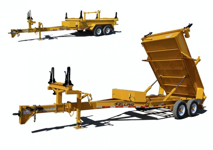 The PCD has a 24 ft. retracted overall length, equipped with a telescoping tongue. When fully extended, it increases the overall length to 40 ft., creating the ability to haul utility poles up to 60 ft. in length.