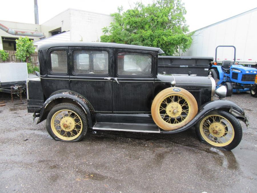 Among the more unique items up for bid was this 1929 Model A Ford.