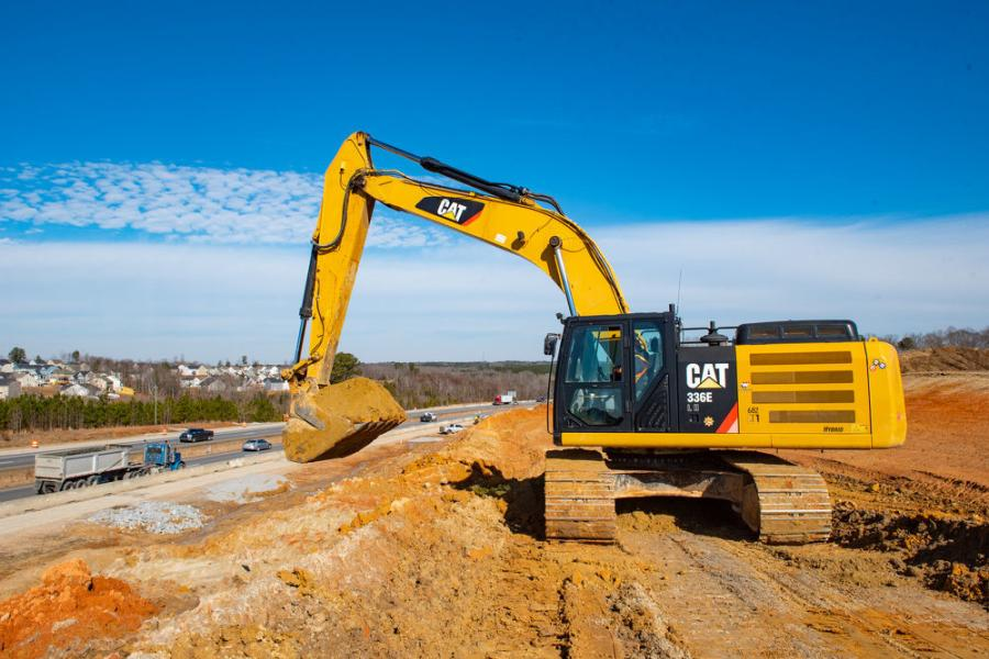 A wide variety of heavy machinery is required to complete the work. (NCDOT photo)