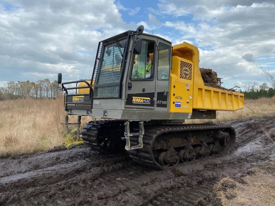 North State Environmental uses the Terramac RT14R crawler carrier.