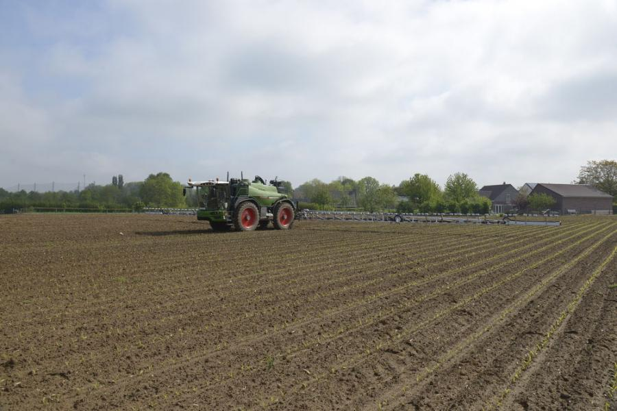 The targeted spraying proof of concept implemented on Fendt Rogator application equipment with technology from AGCO, Bosch, xarvio Digital Farming Solutions powered by BASF and Raven Industries Inc. (Business Wire photo)