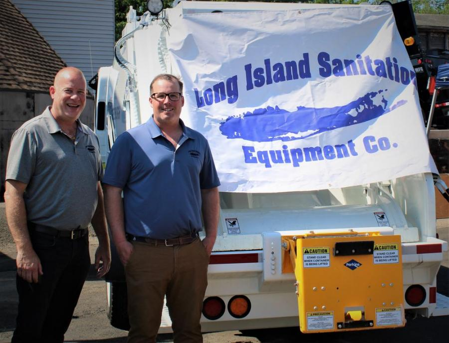 David Cope (L) and John Jordan are with one of the most trusted names in sanitation vehicles in New York State — Long Island Sanitation.