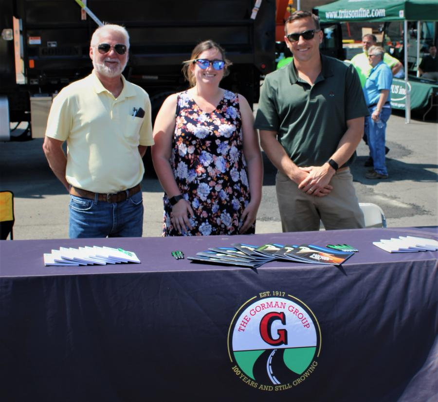 Let the paving experts at Gorman plan your next project. (L-R) are Tony Squicciarini, Kim Travis and Dave Mellon.