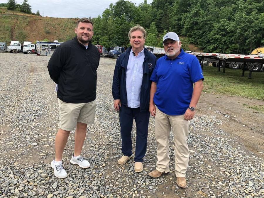 (L-R) are Luke Barker, football coach at The University of Charleston, W. Va.; Bob Johns, state appointed bankruptcy trustee; and Matt McGaffee.