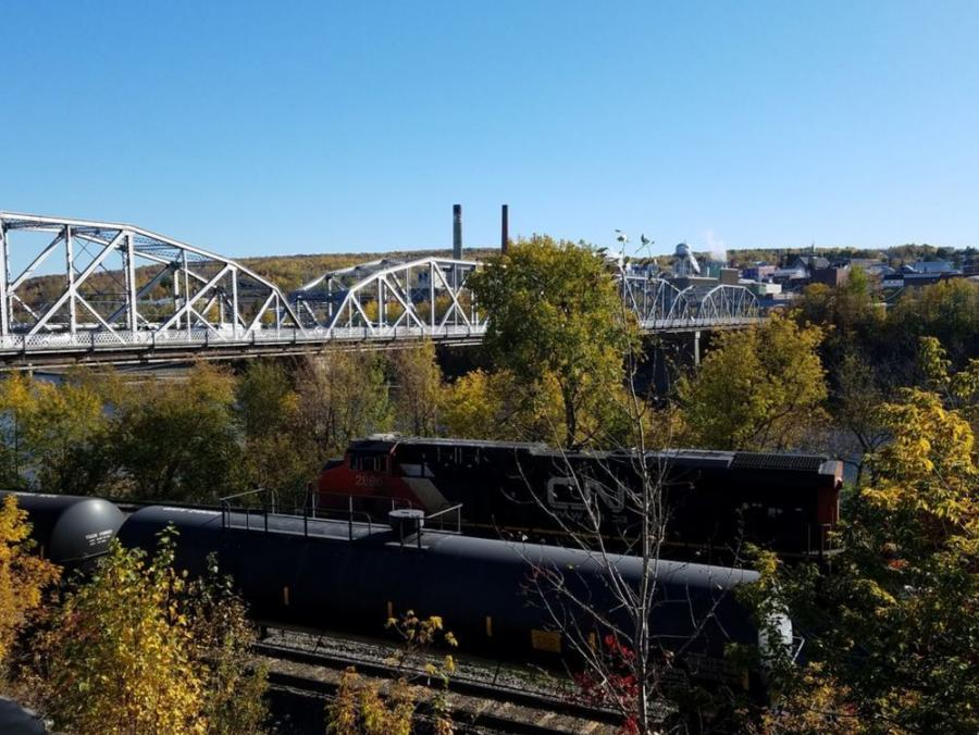The 100-year old Madawaska/Edmundston International Bridge, which serves as a border crossing between Maine and Canada, is being reconstructed.