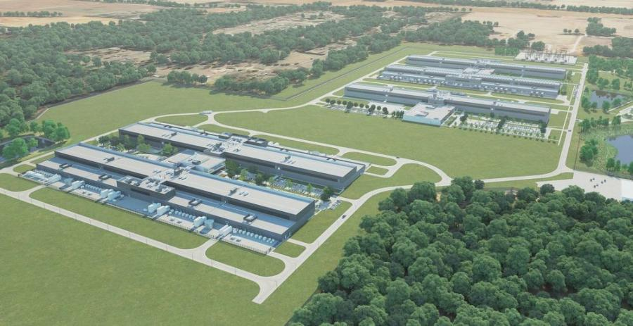 A rendering of the expansion of Facebook's data center campus in Huntsville, announced June 8, 2021. (Facebook rendering)