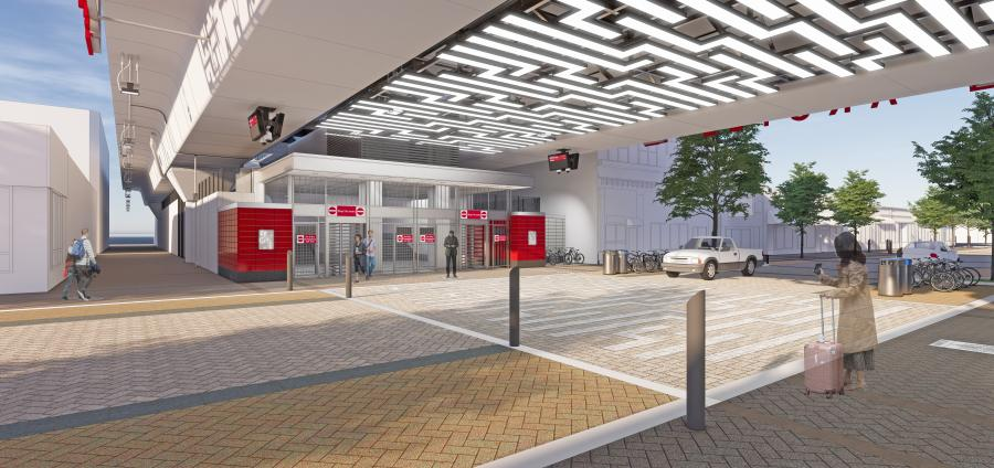 Fluor joint venture breaks ground on Chicago Transit Authority Red Line stations and tracks. This is an artist rendering of the Argyle Underpass Auxiliary Station. (Fluor photo)