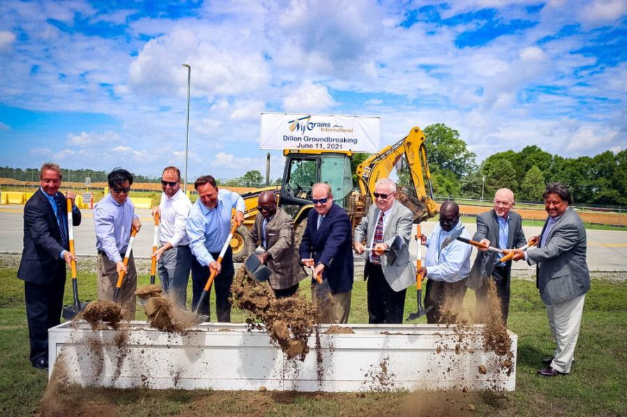 Officials celebrated the groundbreaking of an agricultural transload facility in Dillon County. (SCPA/English Purcell photo)