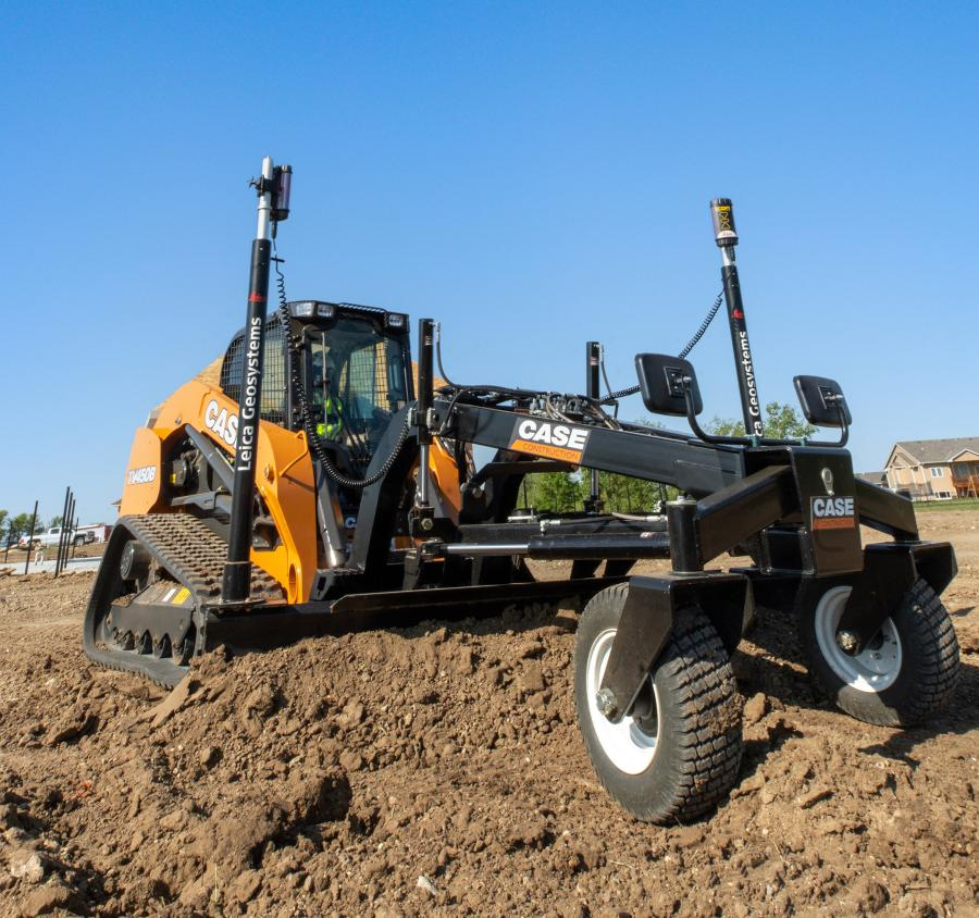 The new attachment is compatible with the same 2D and 3D machine control technologies deployed on full-sized motor graders, allowing contractors to transform their CTL into a powerful and compact precision grading solution.