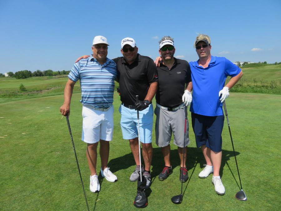 (L-R): Pete Pavlopoulos of Advance Group; Mike Jaworski, director of sales of Alta Equipment Co. Illinois/Indiana; Jamie Taylor of Advance Group; and Scott Bloom of Advance Group make for a formidable team on the golf course.