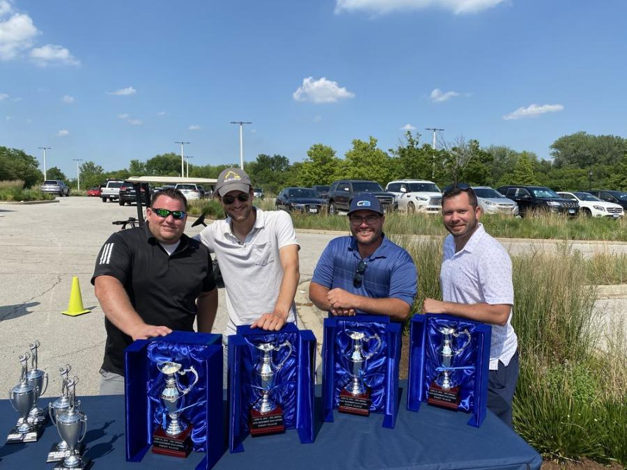 First-place winners of the outing (L-R) are Eric Wilberg of Alta Equipment; Steve Collins; Bill Collins; and Jeremy Doolin, all of RW Collins.