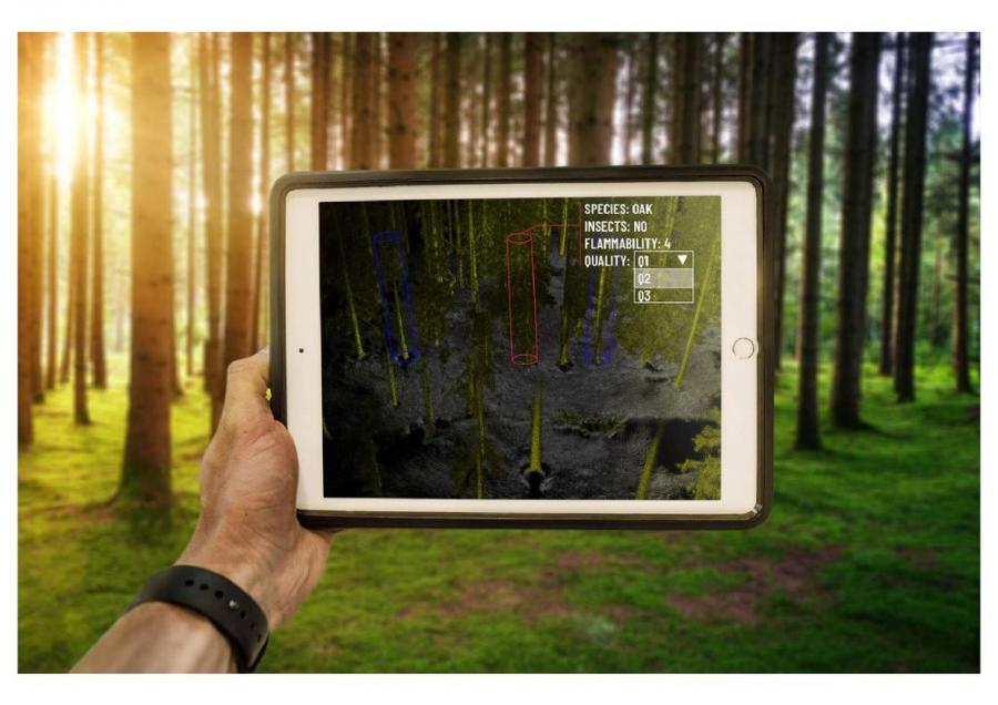 Outsight LiDAR for the 3D mapping of forests.