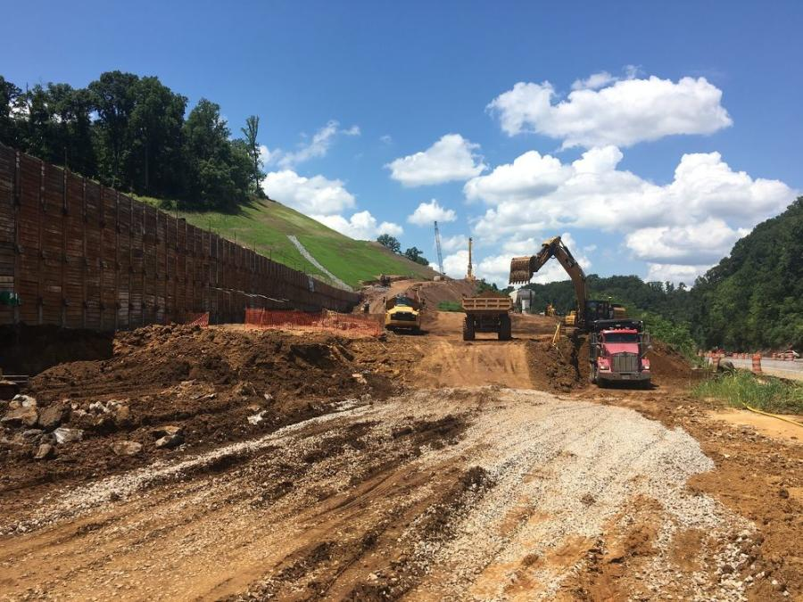 Construction on the Alcoa Highway began in April 2016 with an estimated completion of mid-2023. (Tennessee DOT Region 1 photo)