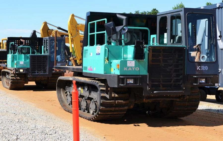 There are always some unique pieces at the JM Wood sale, including this pair of low-houred KATO iC120 crawler carriers.