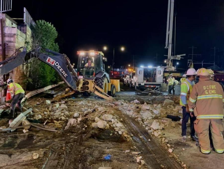 An incident report from D.C. police concluded that a boom truck working at a nearby construction yard got on the interstate but forgot to lower its boom, which collided with the bridge, causing it to collapse.