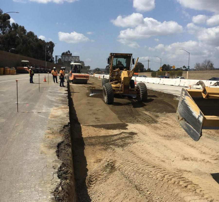 Crews from Guy F. Atkinson are executing a $107 million upgrade to the Pomona Freeway (SR 60) between the I-710 Long Beach and San Gabriel River (I-605) freeways to extend the lifespan of the highway.