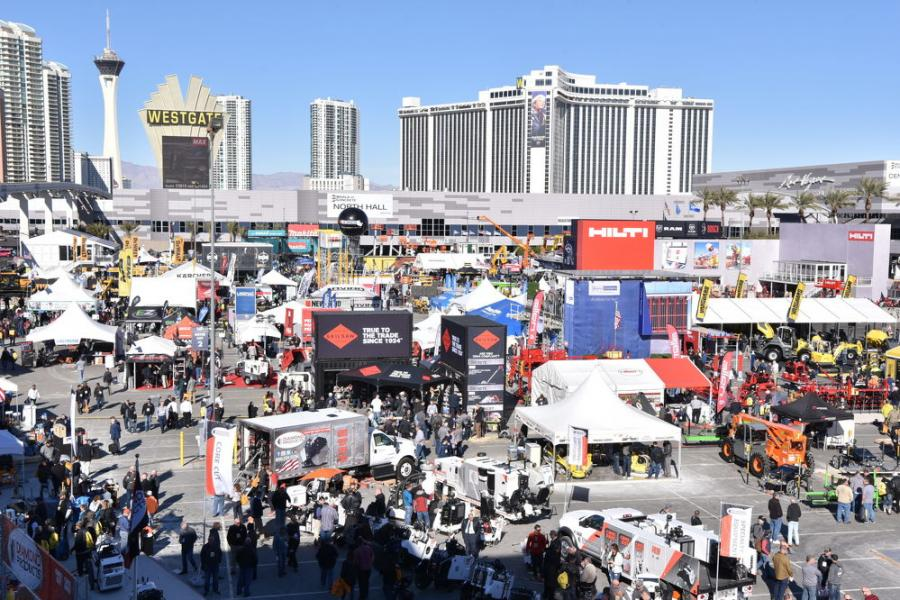 Las Vegas was packed for the return of the in-person World of Concrete show, where more than 1,800 companies and suppliers from all over the world came together in the 900,000-sq.-ft Las Vegas Convention Center to show, demonstrate, do business and answer questions about what they are showing. (CDSA photo)