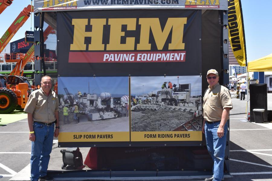 Rick Eisiminger (L), vice president of international operations of HEM Paving; and Darren Huinker, vice president of sales of HEM Paving.