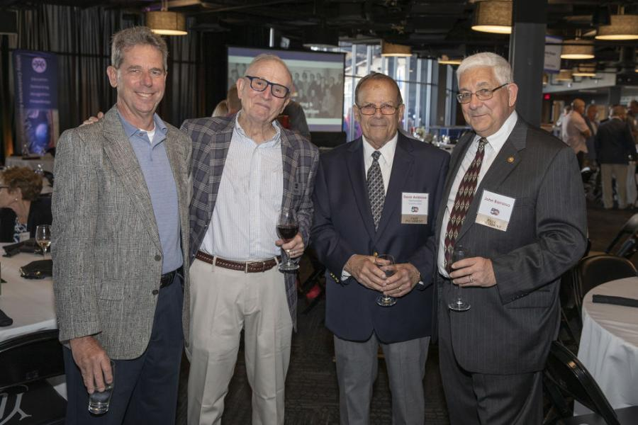 Long-time UCAC members and supporters (L-R): Newell Stamm, Stamm Construction; Skip Wilson, retired, Core & Main; David D. Ambrose,retired, Wethersfield Construction; and John Barrasso, retired.