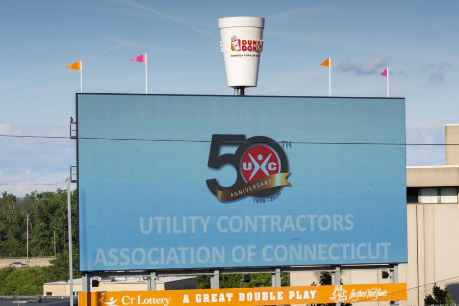 UCAC took over the JumboTron at Dunkin' Donuts Park.