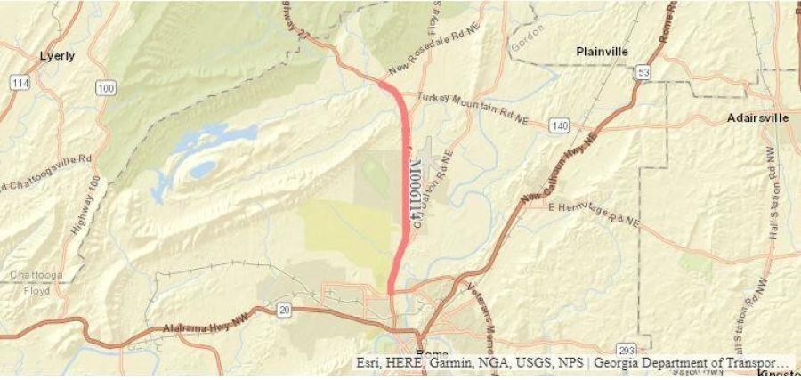 A heavily traveled section of Martha Berry Highway/U.S. Highway will be resurfaced.
