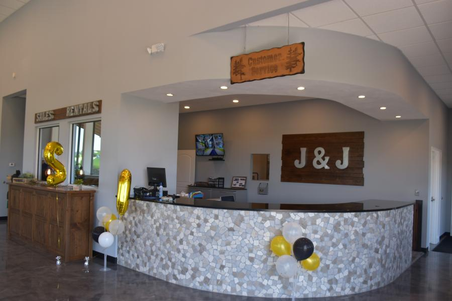 The interior of the J & J facility features a welcoming and relaxing atmosphere.