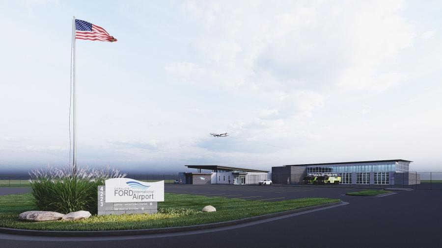 The Gerald R. Ford International Airport broke ground June 30 on a new $7.7 million operations center. (Gerald R. Ford International Airport photo)