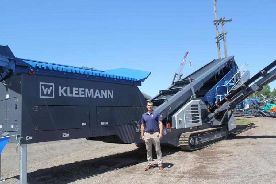 Cory Fuhrmann, district sales manager of Wirtgen America, and other product representatives were on hand to answer any questions attendees had on the extensive equipment products out front, like this Kleemann screener.