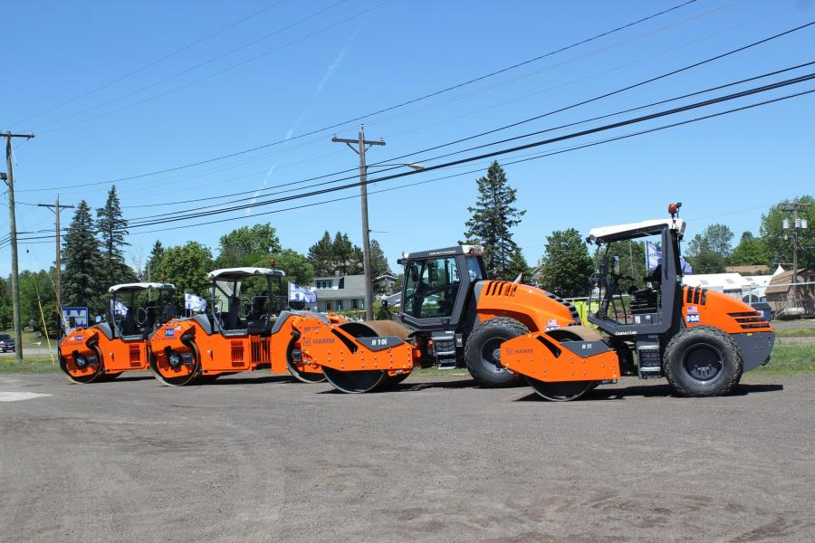 This lineup of Hamm rollers was on display at Hayden-Murphy's Twin Ports open house.