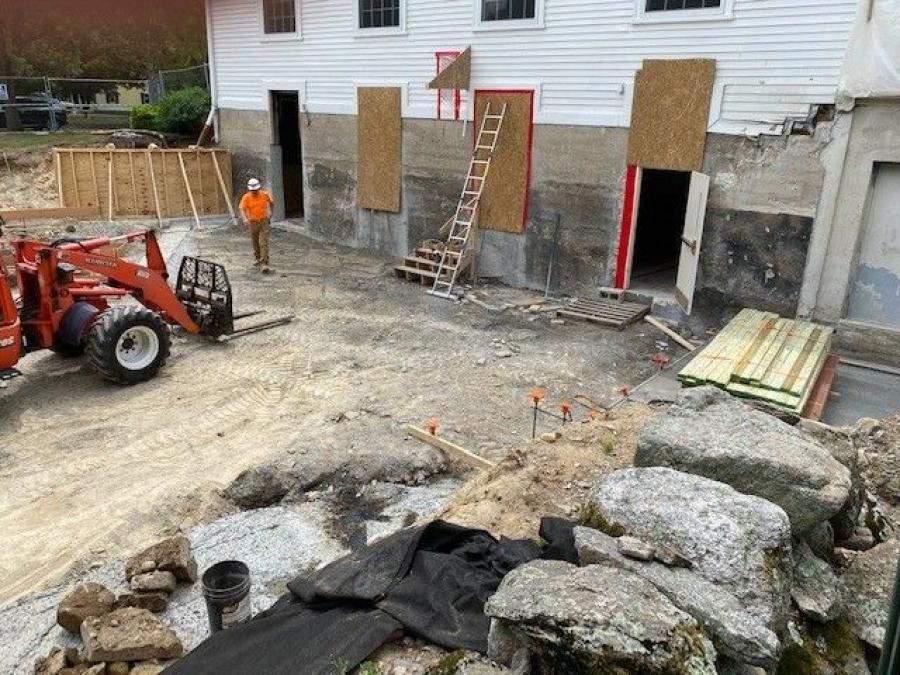 Construction is proceeding smoothly, aided by the information gained from the GPR survey. (Dennis Mires, PA The Architects photo)