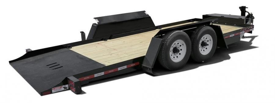 The new EZ-Tilt fender design offers a similar profile to Felling's drop deck equipment trailer fenders, opening from the top to allow clearance for the wheels when the trailers in lowered to the loading position.