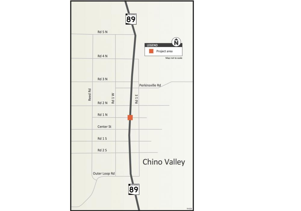 The project will add a right-turn lane on northbound SR 89 to eastbound Road 1 North, add left turn lanes on Road 1 North, and install a new traffic signal and detection sensors.