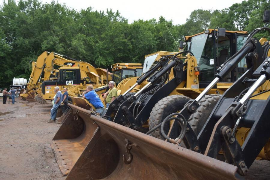The core of John Olender Corp.'s earthmoving fleet consisted of a great lineup of well-maintained Cat iron.