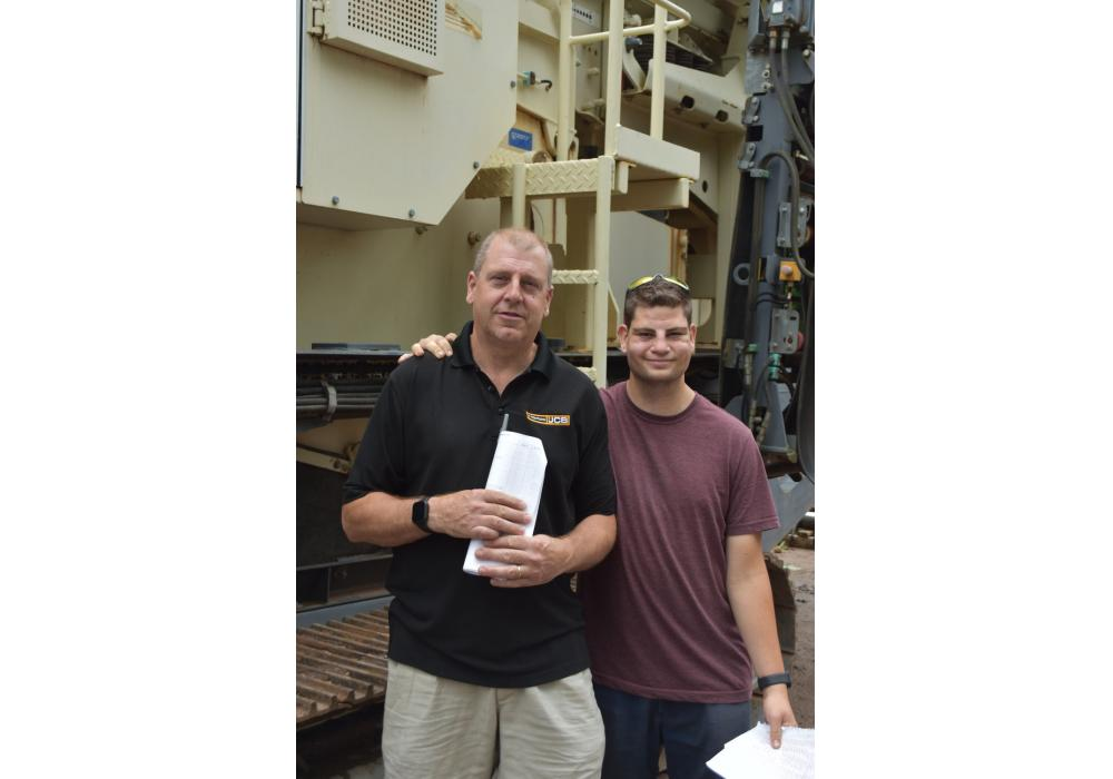 With a Metso LT105 jaw crusher, Kevin Knaust with his son, Matthew, of A. Montano Company in Saugerties, N.Y.