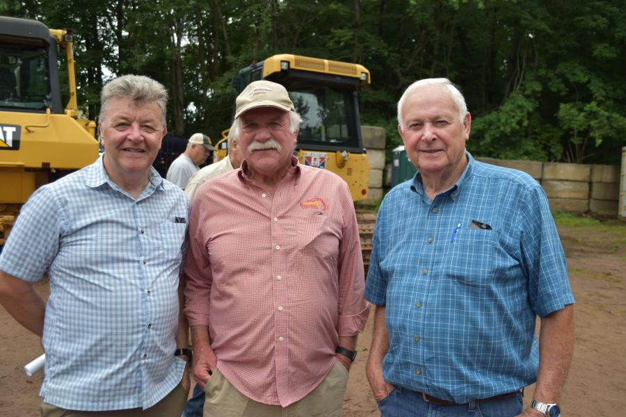 A group of industry veterans take advantage of the opportunity to catch up. (L-R): Seamus Sheelan of Powerscreen New England in Windsor Locks, Conn.; Ed Wright of Fay & Wright Excavating in Goshen, Conn.; and Ron Beebe of Milton Beebe in Storrs, Conn.