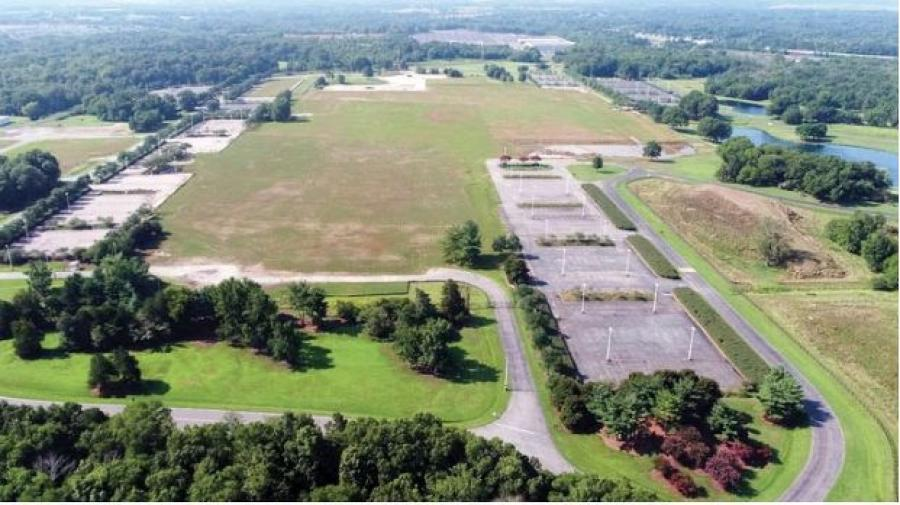 This aerial photo shows the site of the former Phillip Morris Plant in Concord. (Cabarrus County Economic Development Commission photo)