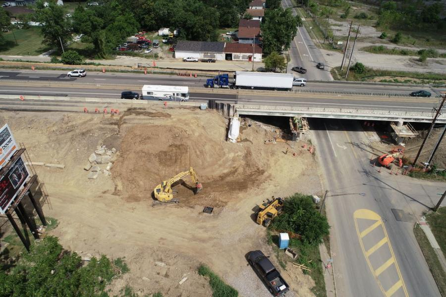 Construction includes the replacement of various bridges, construction of a median barrier and shoulder widening along U.S. 30, along with pavement replacement. (Ohio Department of Transportation photo)